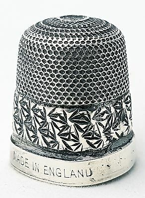 Antique Sterling Silver Thimble Made in England (size 15)