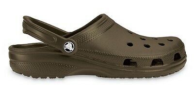 65f25f323 Genuine Crocs Kids Adults Classic Caymen Clogs Chocolate - 100% Positive  Reviews