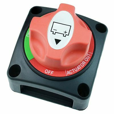 Red On-Off Rotating Release Battery Switch 200A 12-50V DC SCI A23-2