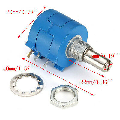 10K Ohm 10 Turn Rotary Wire Wound Precision Potentiometer - USA FAST!