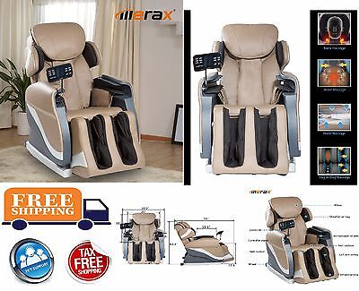 Electric Full Body Shiatsu Massage Chair Recliner W/Heat Stretched Foot Rest NEW