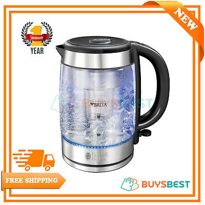Russell Hobbs Purity Glass Kettle With Brita Filtration 3000 W Blue Illumination