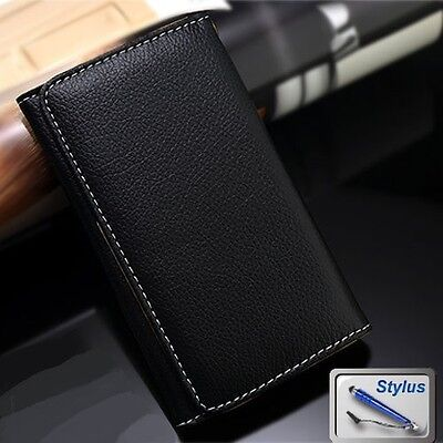 Wallet Money Card Leather Case Cover for Konka R8a / U7 + Stylus