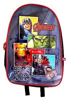 Marvel Comics Avengers Assemble Agents Of Shield Boy's Graphic Book-Bag Backpack