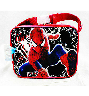 The Amazing Spider Man Spiderman School Lunch Bag Snack Box -Web Shooter NWT