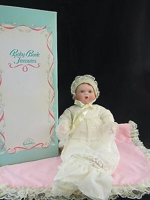 """Knowles Baby Book Treasures """"Catherine's Christening"""" Porcelain Doll, in Box"""