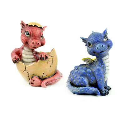 Miniature Dollhouse FAIRY GARDEN - Baby Dragons - Set of 2 - Accessories