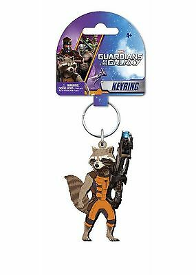 Marvel Guardians of the Galaxy Rocket Raccoon Soft Touch Key Ring (2014) New