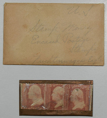 ca. 1861 9 CENTS ENCASED POSTAGE, FEUCHTWANGER CASING, VG+/EXC & VERY RARE!