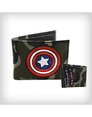 Marvel Comics Original Bioworld Captain America Bi-fold Army Camouflage Wallet