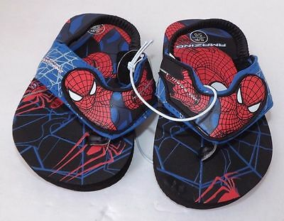 SPIDER-MAN Light-Up Flip Flops Beach Sandals w//Lights NWT Sz 9-10 11-12 or 13-1