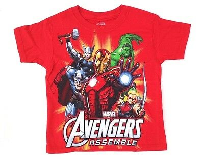 Marvel Avengers Assemble Icons Red Color Juvy/'s Licensed T-Shirt