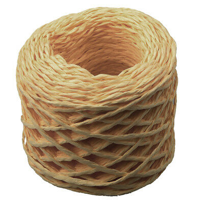 30 Metres Twisted Raffia Paper Ribbon Cords for DIY Gift Wrapping Coffee