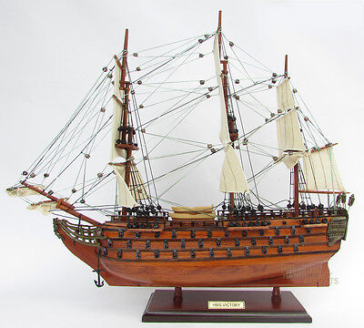 "HMS Victory 20"" - Handmade Wooden Ship Model NEW"