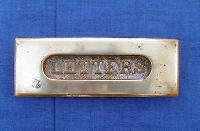 Vintage Solid Brass Spring-loaded Letter Mail Slot