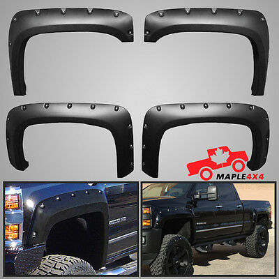 Reg-Long Box 2014-2017 Silverado Fender Flares 1500/2500HD/3500HD Pocket Riveted