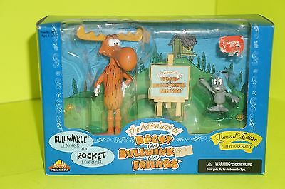 New! Exclusive Premiere The Adventures Of Rocky & Bullwinkle & Rocky Figure.