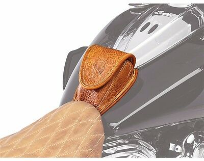 Indian Motorcycle Genuine Leather Tank Pouch Desert Tan - 2880142-05