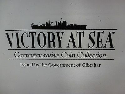 GIBRALTAR VICTORY AT SEA SERIES - 12 Different C/N BU CROWNS - With Box