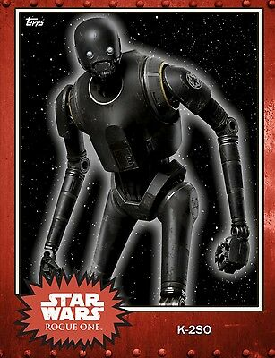 Topps Star Wars Trader Series 4 Red Rust K-2S0 Digital Card Limited 5