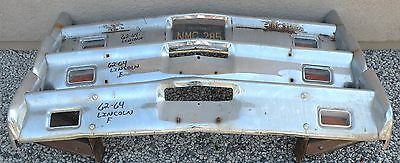 X Lincoln Continental New Triple Plated Chrome Front Bumper 1962-1964 62-64 Oem