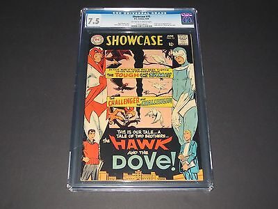 Showcase #75 (Jun 1968, DC) First Appearance of Hawk And Dove CGC 7.5