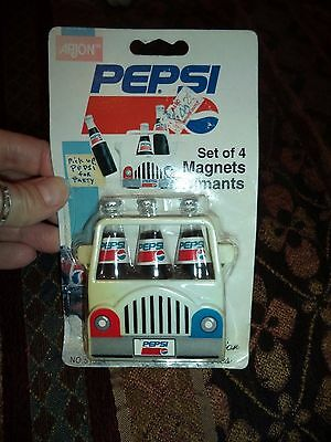 VINTAGE PEPSI SET OF 4 MAGNETS AIMANTS Collector Series Soda Pop Advertising