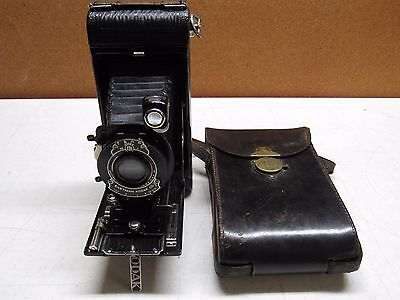 KODAK NO. 1A Pocket Fold up camera with case EXCELLENT 7F13