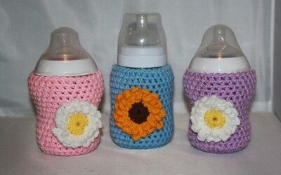 Crochet baby bottle COVER Tommee Tippee/ AVENT/ NUK/ MAM / DrBrown PERSONALISED