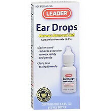 Leader Ear Wax Remover Drops, 15ml 023558076501S217