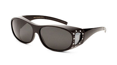 61c7a9fbed2 Fitover Sunglasses with Polarized Lens and Rhinestones Women Designer  Fashion
