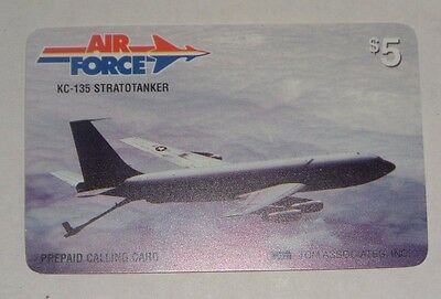 TCM Associates Air Force KC-135 Stratotanker Airplane Prepaid $5 Phone Card