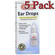 Leader Ear Wax Remover Drops, 15ml, 5 Pack 023558076501S217