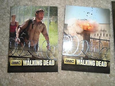Walking Dead Season 3 Part 1 ~ THE PRISON Insert Card Lot (2) TP-01, TP-09