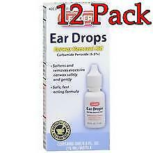 Leader Ear Wax Remover Drops, 15ml, 12 Pack 023558076501S217