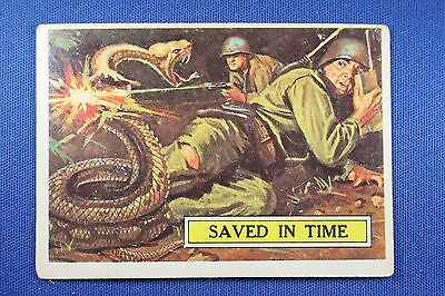 1965 Topps Battle Cards - #21 Saved In Time - Good Condition