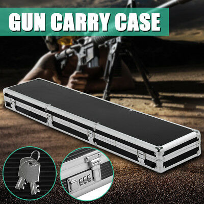 NEW Portable Aluminum Hard Gun Case Safe Rifle Shooting Hunting Carry Box