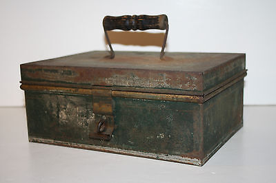 Antique Marshall Fields Metal Cash Box with Trays