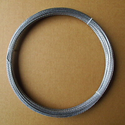 100' Guy Wire Antenna Mast Support Galvanized Steel Cable 4 Strand 20 Gauge