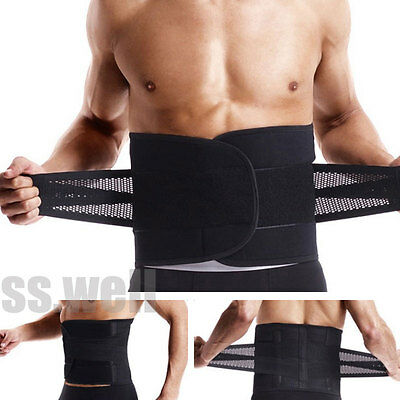 Lumbar Back Support Belt Lower Pain Relief Adjustable Double Pull Brace Mesh