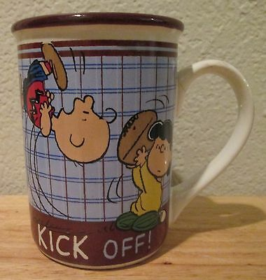 "Peanuts Charlie Brown Lucy Football ""Kick Off!"" Gibson Stoneware Coffee Cup Mug"