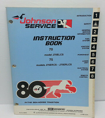1980 Johnson Seahorse Service Repair Manual 70 75  HP  J75ERCS  J75ERLCS