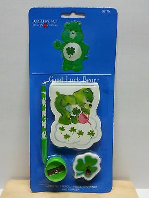 Vintage 1984 CARE BEARS American Greetings GOOD LUCK BEAR Writing Set Pencil Pad