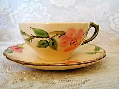 FRANCISCAN Desert Rose Hand Painted Cup & Saucer Set - Made in California U.S.A.