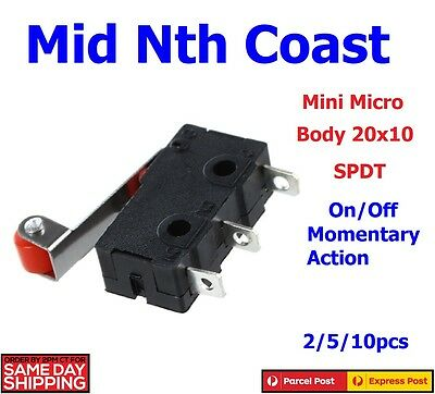 2/5/10 x Subminiature Mini Micro Limit Switch Roller Lever Arm SPDT Snap Action