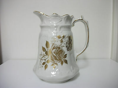 Old Foley James Kent Staffordshire England Pitcher Gold Luster - Gorgeous - Rare