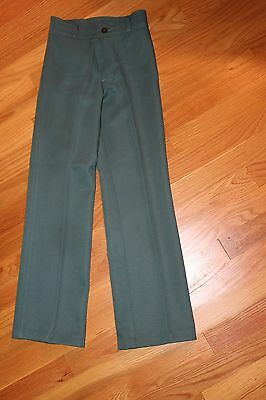 NOS 1970s 1980s Girls' Boys' Levi's Green Pleated Trousers Pants