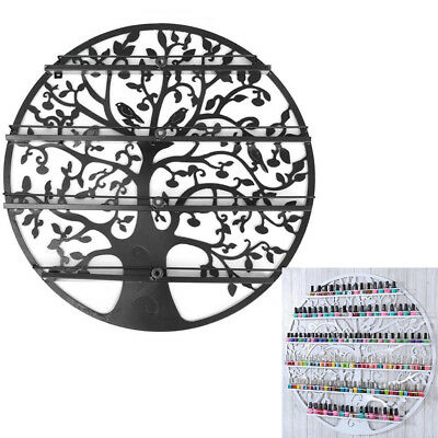 4 Tier Tree Art Nail Polish Display Holder Rack Storage Metal Wall Mounted Shelf