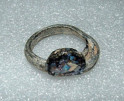 ancient roman glass ring with very lovely patina one of a kind unique