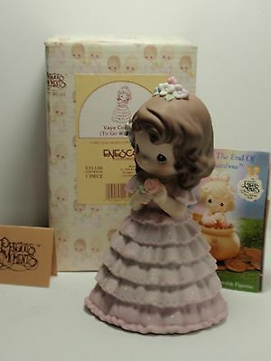 Vaya Con Dios To Go With God precious moments girl dress figurine trumpet 531146
